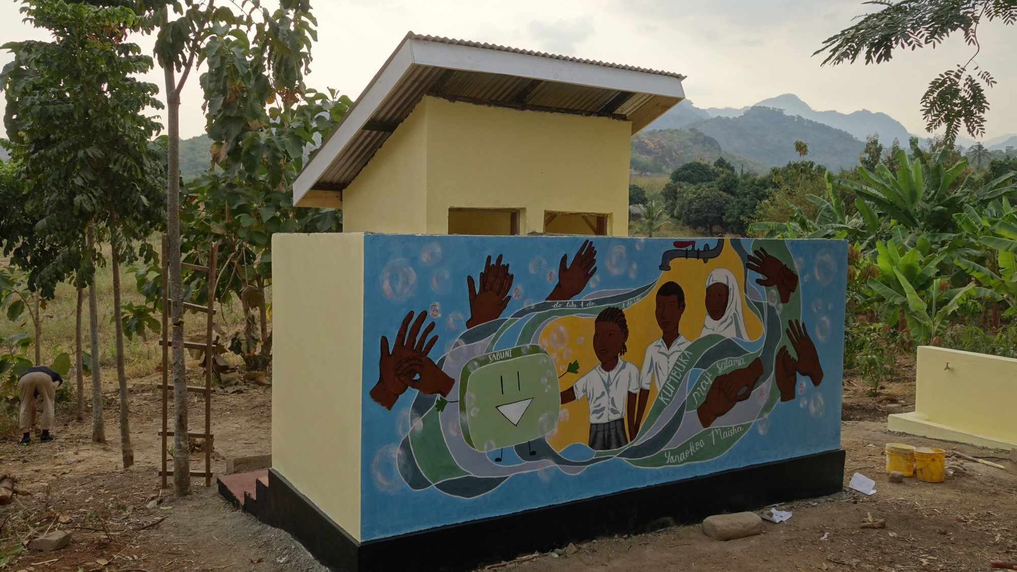 The newly build school toilet!